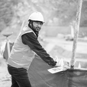 site supervisor with hard hat